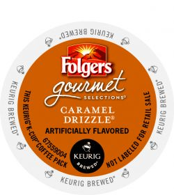 Folgers Caramel Drizzle K-cup Coffee